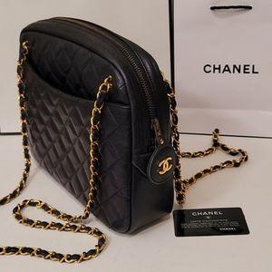 Chanel Matrasse Navy Camera Crossbody Shoulder Bag